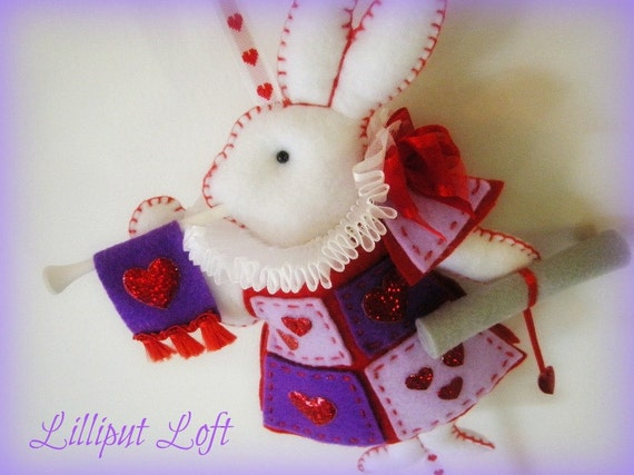 Nursery Mobile - White Rabbit in court - purple