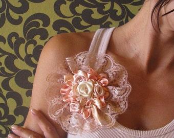 Brooch - Lace Brooch - Beauty Trend - Satin Lace Brooch