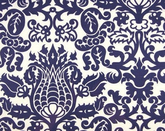 Navy Blue Table Runner Wedding Floral Table Centerpiece Navy Blue Linens Damask Runner Decoration