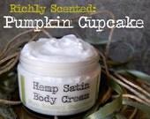 Pumpkin Cupcake // Hemp Satin Body Cream // 5 ounces