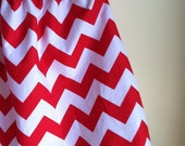chevron skirt - red and white - for baby toddler girl - 2T ready to ship