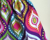 bright and groovy  - baby toddler girls skirt - handmade by noah and lilahchristmasinjuly