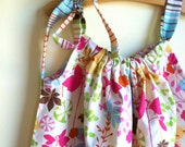 Enchanted Forest in pink blue and fuchsia  - handmade girl baby toddler pillowcase dress by noah and lilah christmasinjuly