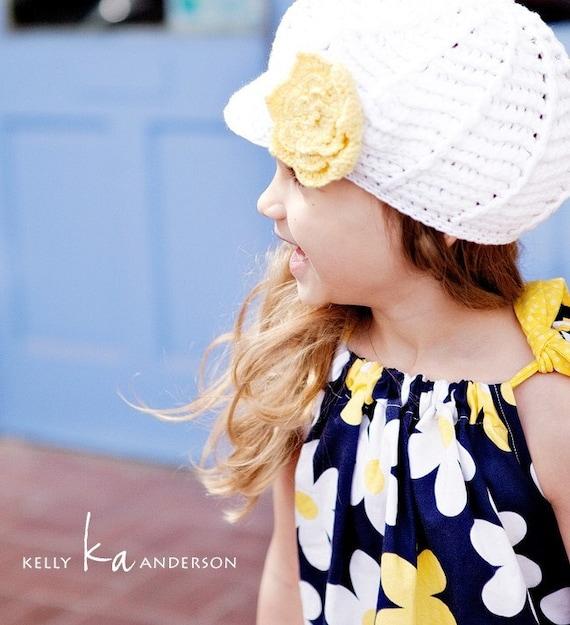 Navy Jane - Baby Toddler Girls Pillowcase Dress - Easter Spring Summer