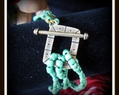 Spring Green Corded Cuff