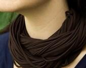 Cocoa Brown Luxe NeckScape scarf cowl necklace