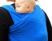 RESERVED - Baby Wrap Carrier Maternity Wrap Royal Blue Woven Cotton Gauze BabyEtte -Non-Stretchy - Made to Order