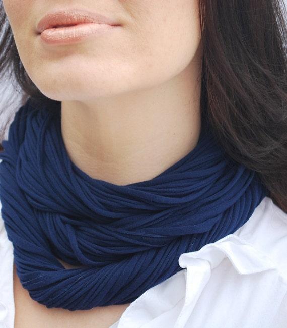 Sapphire Luxe NeckScape Royal Blue scarf cowl necklace