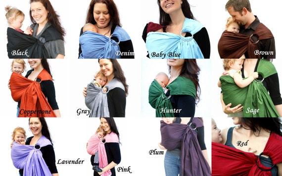 Baby Sling Carrier Ring Sling Buttercream Yellow Baby Basics