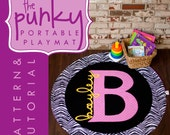 Pattern and Tutorial - personalized monogram playmat or blanket - ultra portable