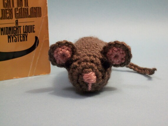 Taupe Mouse Cat Nip Toy