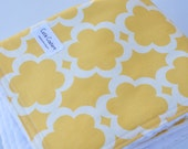 Tarika in yellow baby girl blanket. Warm and soft, cute and modern 30 X 35