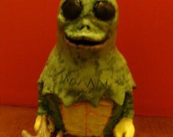 Horned Reptilian Keepsake Holder jar(functional-art sculpture)*Made To Order*