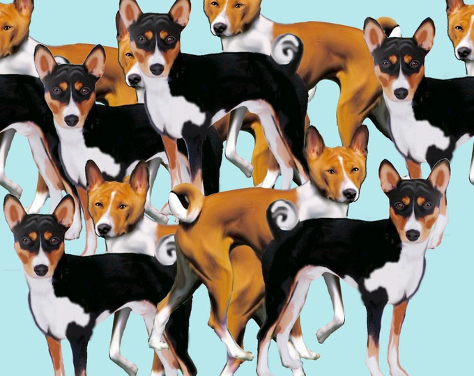 Basenji Original design cotton  fabric