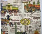 Train marché Tote sac fait avec vintage tissu - vente 50 % off