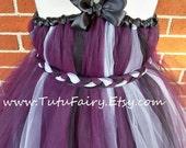 Eggplant Tutu Dress.... Braided Sash.... Matching Hair Bow..... Beautiful Tutu Dress.... Flower Girl Dress.... Birthday Dress. newborn-5t