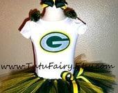 Greenbay Packers Inspired Tutu Set.......... 5 piece set....... Super cute. size Newborn-5t