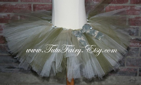 Military ACU Inspired Tutu. Comes with FREE Matching Hair Puff