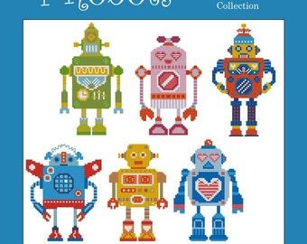 I Robot Minis Cross Stitch PDF Chart