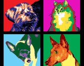 Warhol POP ART Your Pet  GORGEOUS Custom Shirt Featuring Your Own Pets