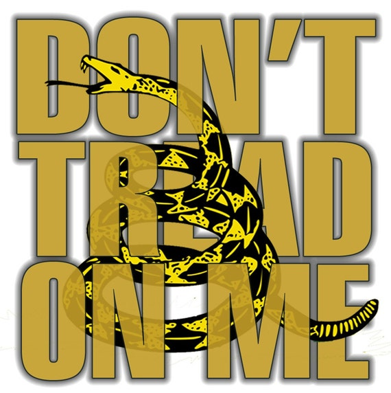 Symbol of American Independence  DON'T TREAD on ME  Gadsden Flag Inspired Tee Shirt