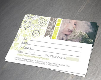 Margarita gift certificate design - Instant download