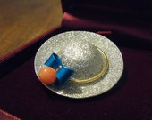 Hat Brooch/Pendant LUCORAL CO. Silver Coral Blue