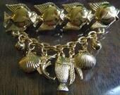 Trifari Fish Brooch Dangling Charms