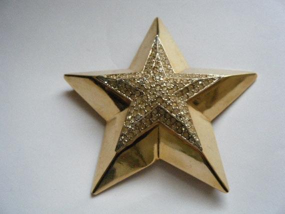 Reserved for Mitsy...Vintage Brooch TANCER II Star Huge