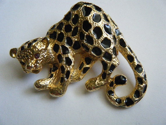 Vintage Brooch/Pendant Leopard PARK LANE