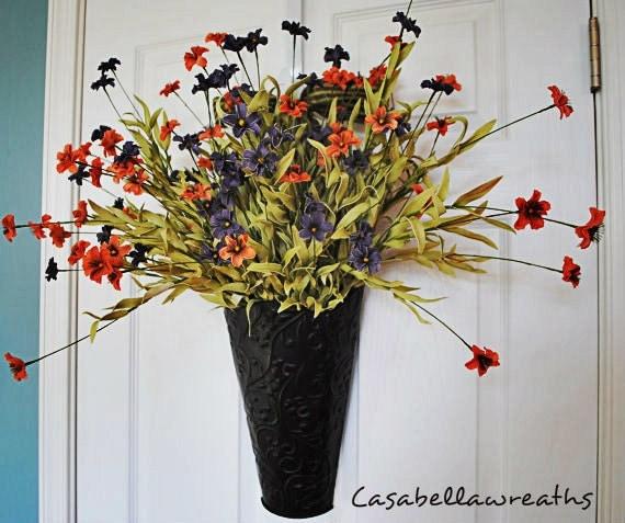 Wreath for Door, Wall Decoration, Summer Wildflowers
