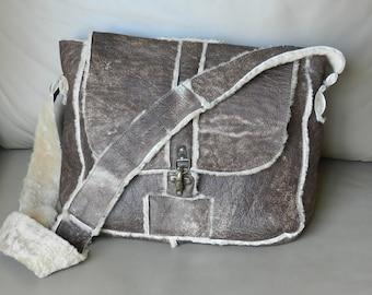 Brown Leather Sheep Handbag
