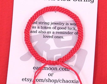 Chinese Dense Good Luck Red String Bracelet