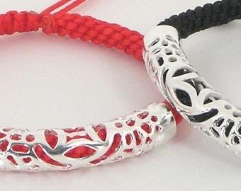 Pair of Money-Bringer Good Luck Red String Bracelets