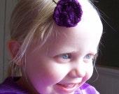 2 Hair Pins-Purple Circle