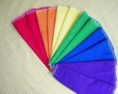 Eco-Friendly Cloth Wipes, RAINBOW Flannel Cloth Baby Wipes, Set of 48
