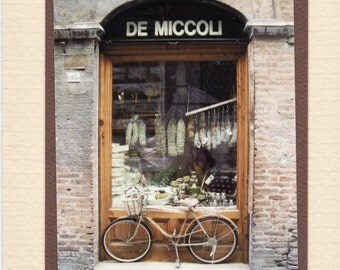 Butcher Shop. Siena Italy. Travel Photo Card. Blank Note Card