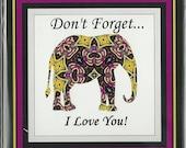 Elegant Elephant Magnet