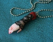Witches LUCKY hand charm pendant