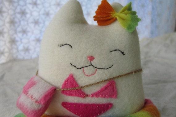 Rissa the Lucky Cat in a Bikini - Custom-made Kitten for Rissa Gimenez
