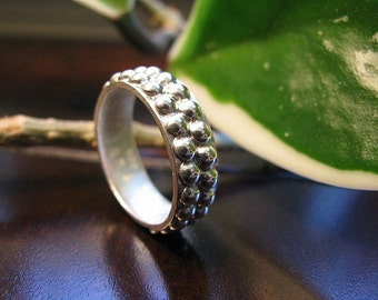 Double Bead Sterling Silver Band