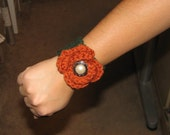 Pumpkins in the fall wrist cuff