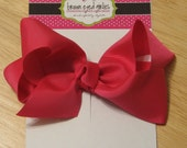 5 inch Boutique Bow - Hot Pink by browneyedgirlies