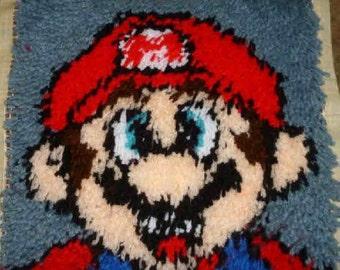 Mario  - 12X12 Latch Hook Kit - Free Shipping
