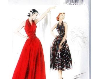 Retro Butterick '52 Halter Wrap Dress