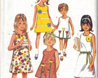 Retro Butterick '67 Girl's Dress 3129
