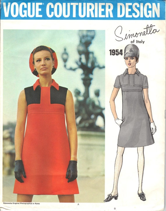 Reduced! Vogue Couturier Design Simonetta Of Italy 1960s Uncut