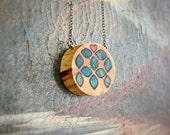 Wood Pendant - Spalted Sweetheart