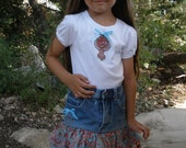 BIG SALE...Two Piece T shirt and Jean skirt set size 5.Was 39.00..Now 25.00