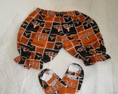 SALE...LONGHORN Two Piece Shoes  and Bloomer Set.. 12 months